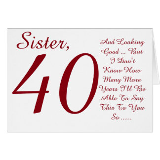 40th Birthday Gifts For Sister