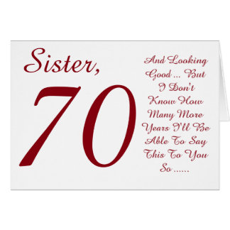70th Birthday Card Messages