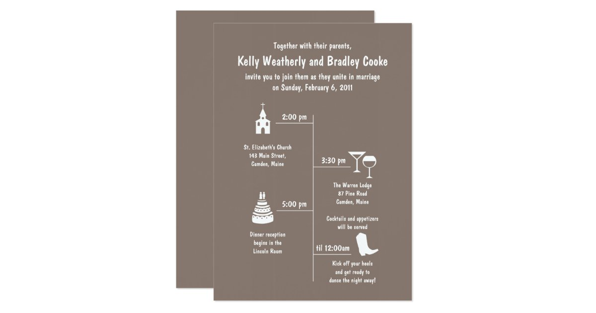 Wedding Timeline Invitations: Fun And Whimsy Wedding Timeline Invitation