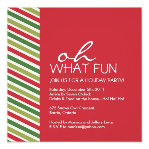 Corporate Christmas Party Idea: Fun Customizable Christmas Party Invitation