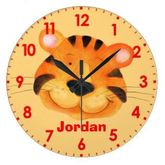 Orange Wall Clocks Zazzle