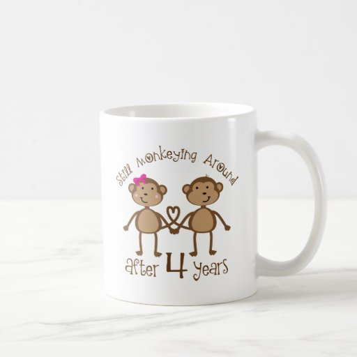 Four Year Wedding Anniversary Gifts: Funny 4th Wedding Anniversary Gifts Classic White Coffee