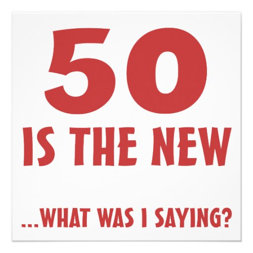Funny 50th Birthday Gag Gifts 5.25x5.25 Square Paper