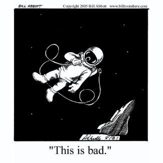 Funny Astronaut Cartoon shirt