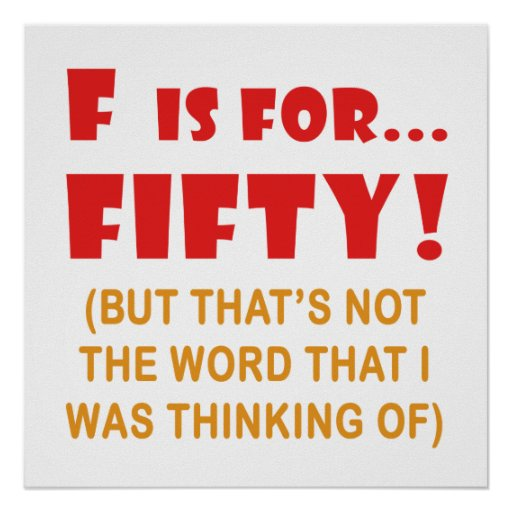 Funny Attitude 50th Birthday Gag Gifts Posters