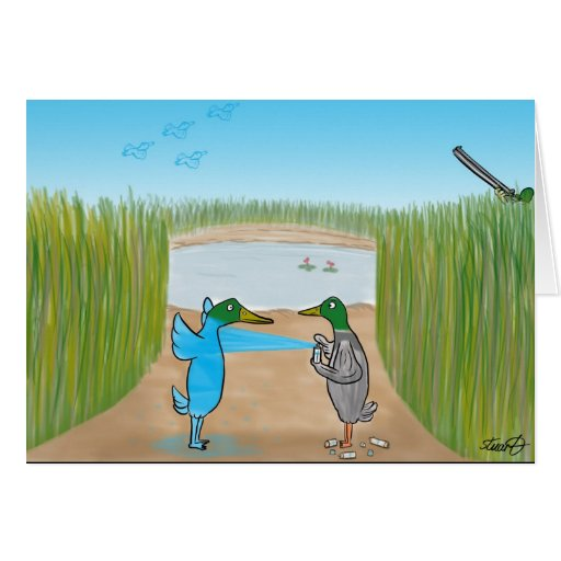 Funny Birthday Card For Duck Hunters