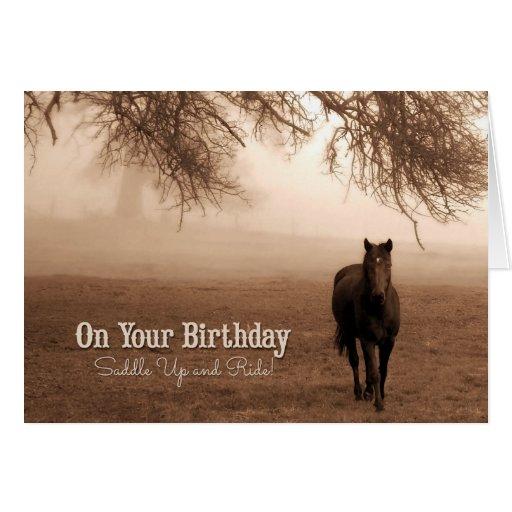 Superb Funny Birthday Card Western Themed Horse Personalised Birthday Cards Epsylily Jamesorg