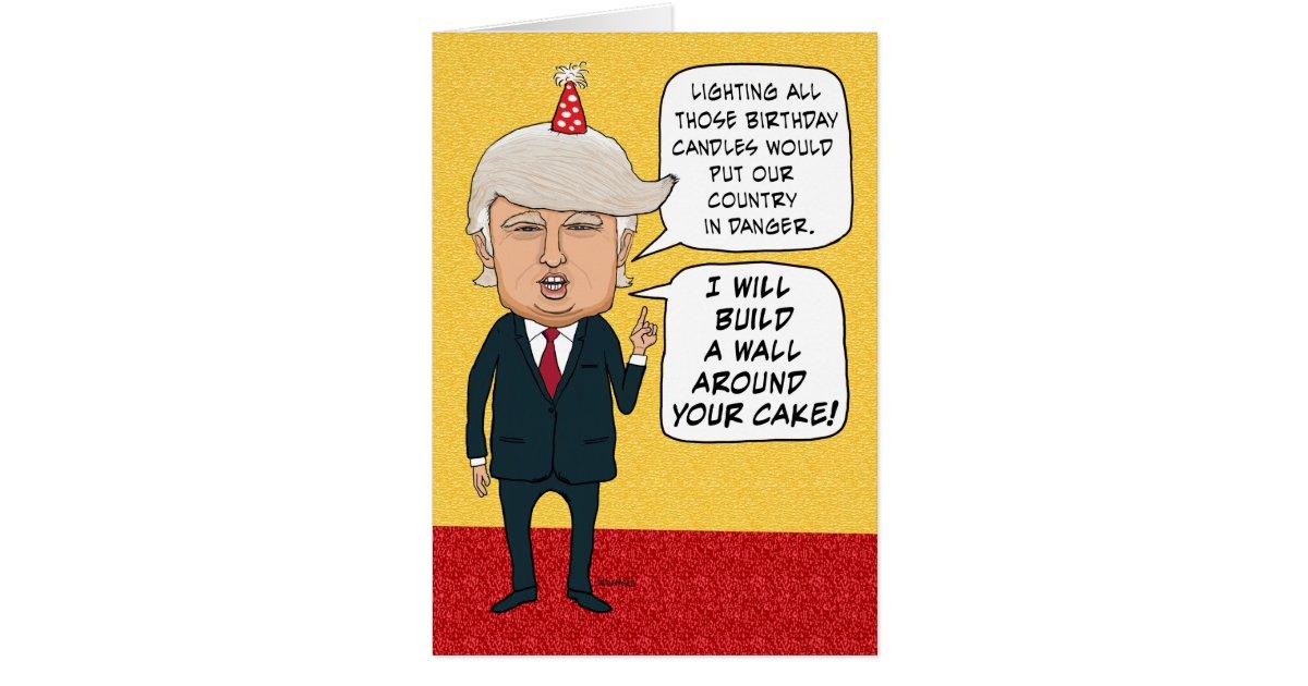 Trump Birthday Wall Cake