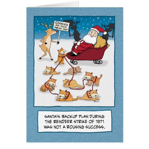 Funny Holiday Quotes For Christmas Cards: Funny Christmas Card: Sleigh Cats