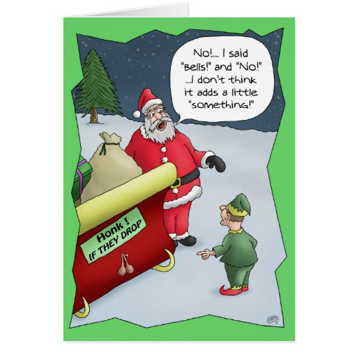 Funny Christmas Cards: Hard Of Hearing Greeting Card