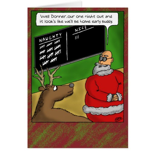 Funny Holiday Quotes For Christmas Cards: Funny Christmas Cards: Naughty And Nice Card