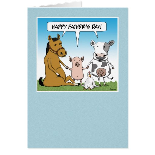 Funny Fathers Day Quote: Funny Father's Day Card: From The Herd