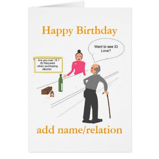 Funny Joke Birthday Card Add Name Front