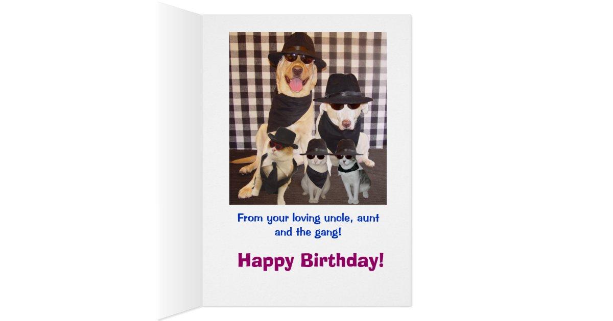 Funny Nephew Birthday Card Zazzle