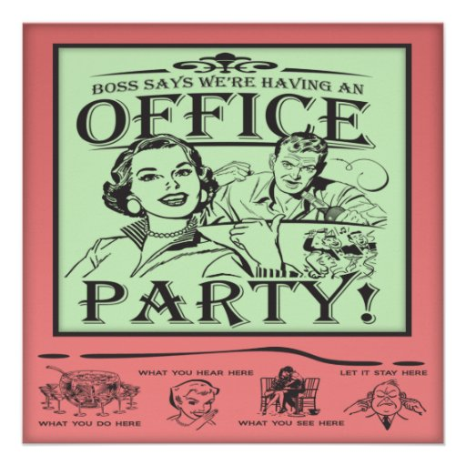 Work Christmas Party Invites: Funny Office Party Invitation