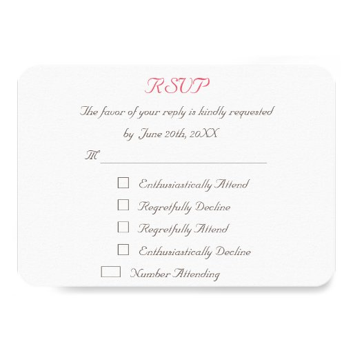 Funny Personalized Wedding RSVP Invitation Card