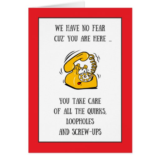 funny phone administrative professionals day card  zazzle