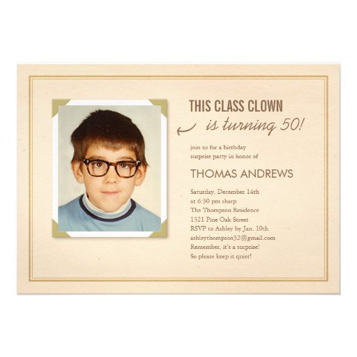 "Funny Birthday Cards Invitations: Funny Photo Surprise Birthday Party Invitations 5"" X 7"