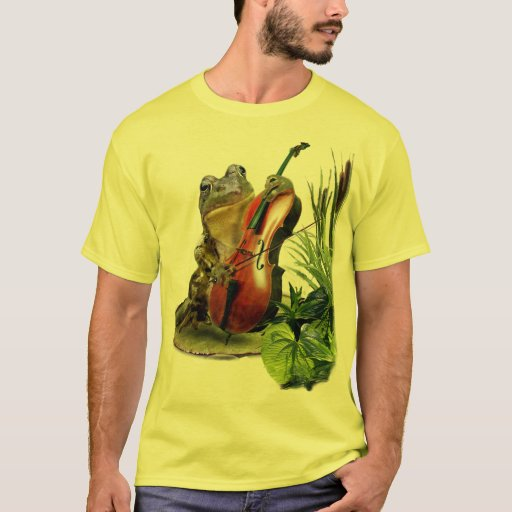 Funny Frog Playing Cello T-Shirt