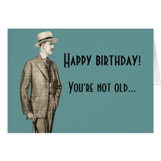Funny Vintage Happy Birthday Greeting Card