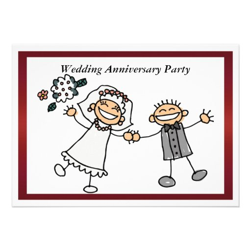 """Almost One Year Anniversary Quotes: Funny Wedding Anniversary Invitation 5"""" X 7"""" Invitation"""