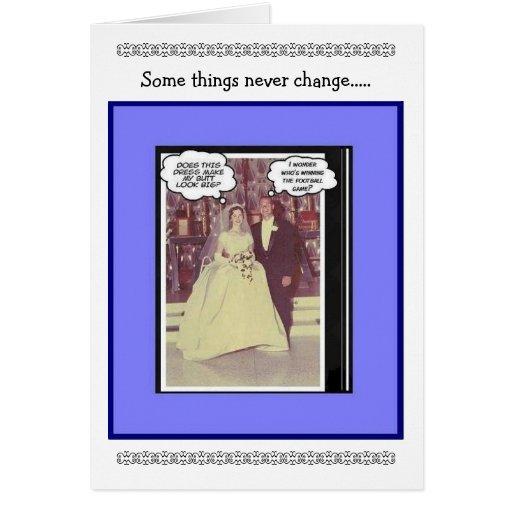 Funny Wedding Anniversary - Vintage Greeting Card   Zazzle