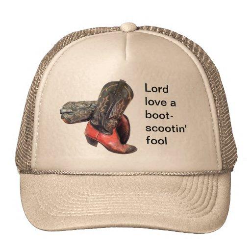 Funny Western Cowboy Boot Scoot Trucker Hat Zazzle