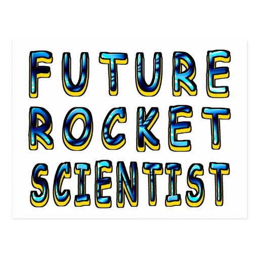 Future Rocket Scientist In 3D Postcard | Zazzle