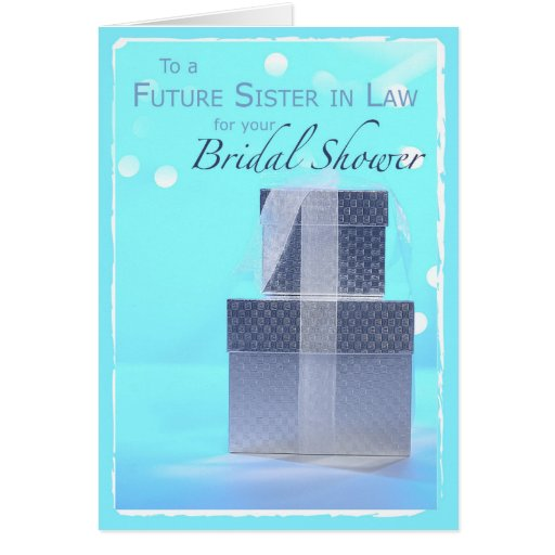 Wedding Gift Ideas For Sister In Law: Future Sister-in-Law, Bridal Shower Gifts, Card