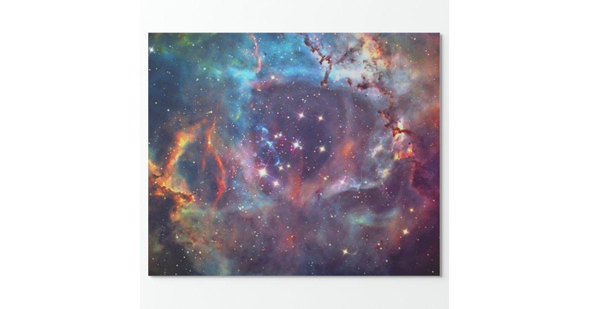 Galaxy Nebula space image. Wrapping Paper | Zazzle