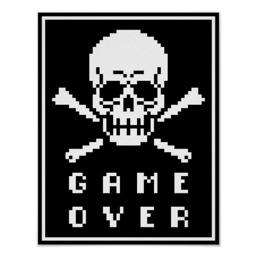 Game Over Pixel Skull Gifts