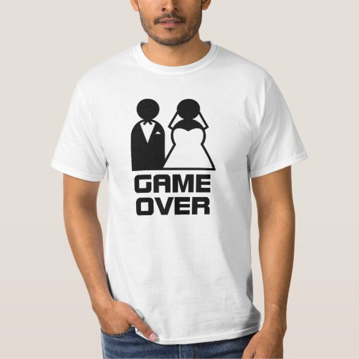 Mens Game Over T shirt Funny Wedding T shirts Humor ...