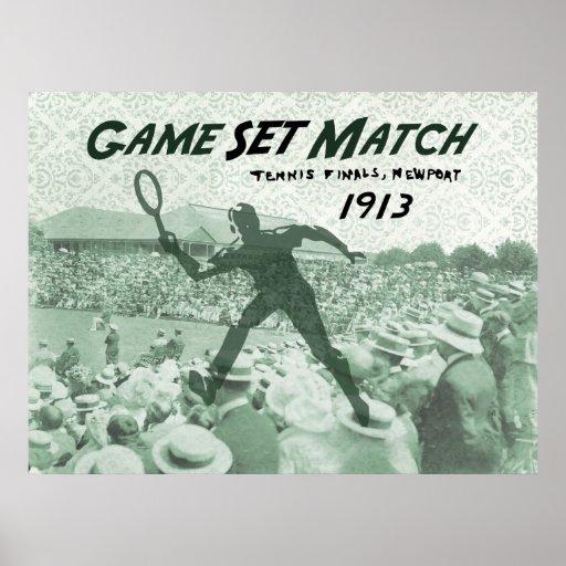 Game Set Match: Vintage Tennis poster   Zazzle