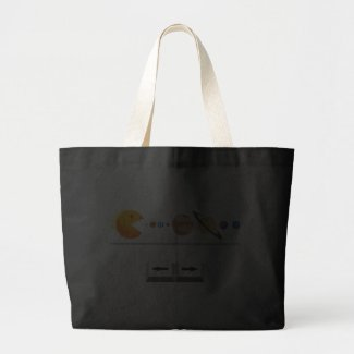 Game with planets funny Custom Bag