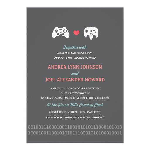 Nerdy Wedding Invites: Personalized Nerdy Invitations