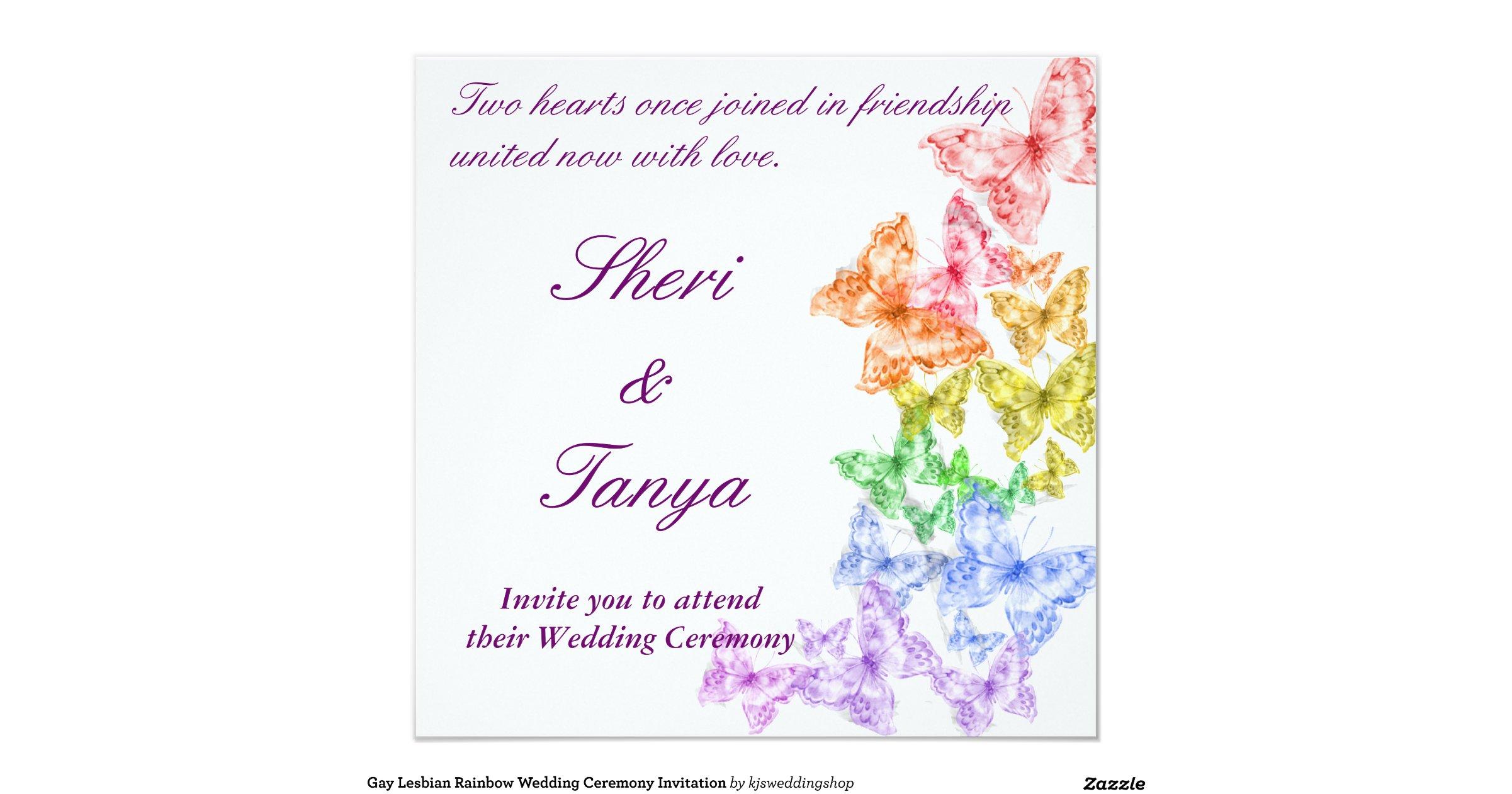 Gay Wedding Invite: Gay_lesbian_rainbow_wedding_ceremony_invitation