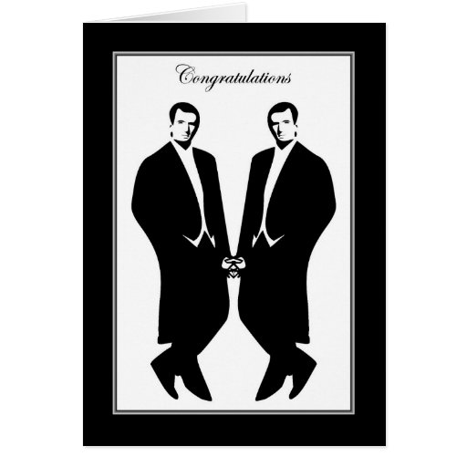 Gay Men Wedding Congratulations Commitment Male Greeting