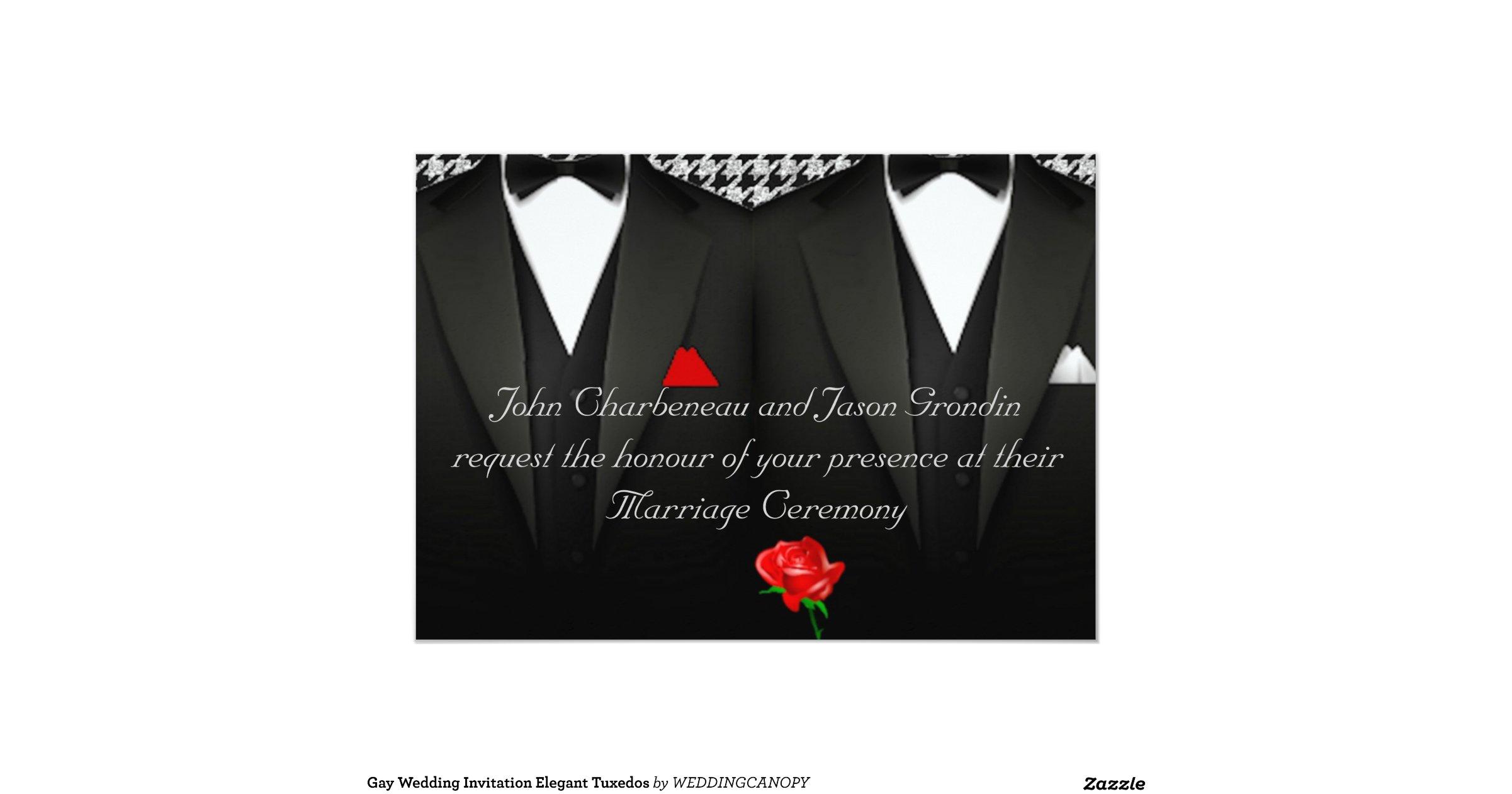 Gay Wedding Invite: Gay_wedding_invitation_elegant_tuxedos