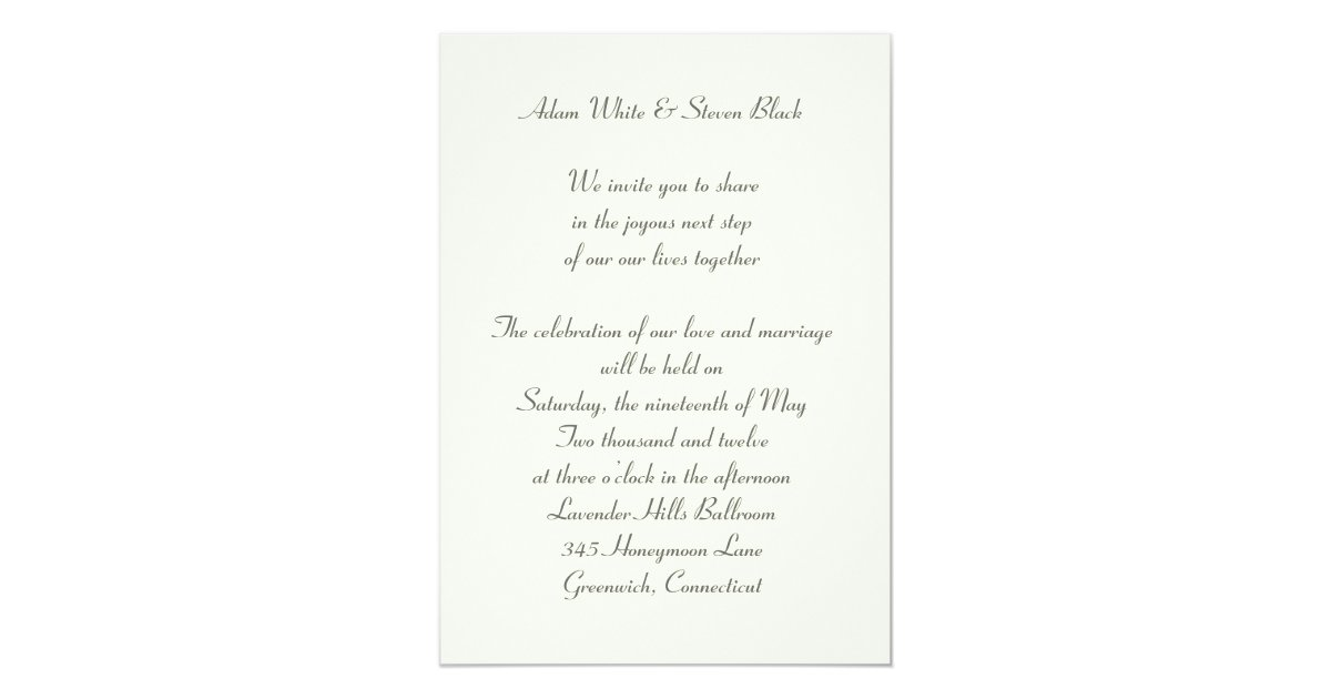 Gay Marriage Wedding Invitations: Gay Wedding Invitation With Vintage Portraits