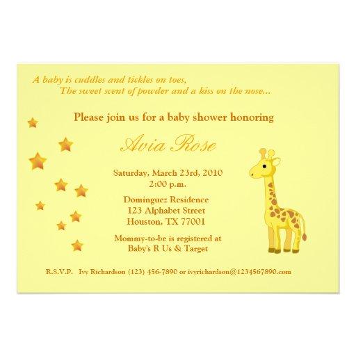 "Gender Neutral Baby Shower Invitation 5"" X 7"" Invitation"