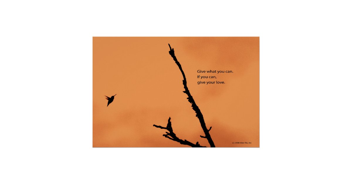 Generosity of spirit. poster | Zazzle