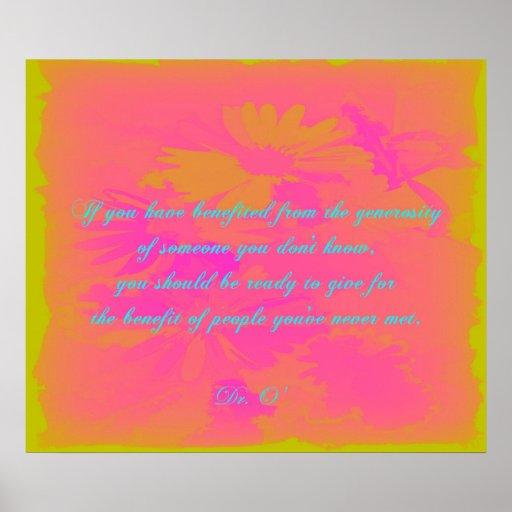 Generosity Poster | Zazzle
