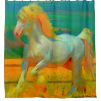 Gentle Giant Abstract Horse Shower Curtain