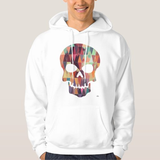 Geometric skull tee | Zazzle