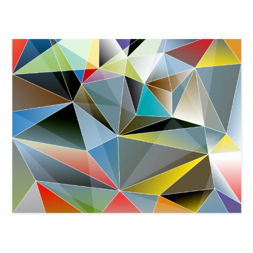 Geometric Triangles Abstract Colorful Diamonds Postcard ...