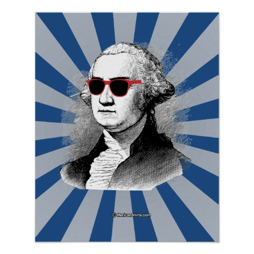 George Washington Party Glasses Poster