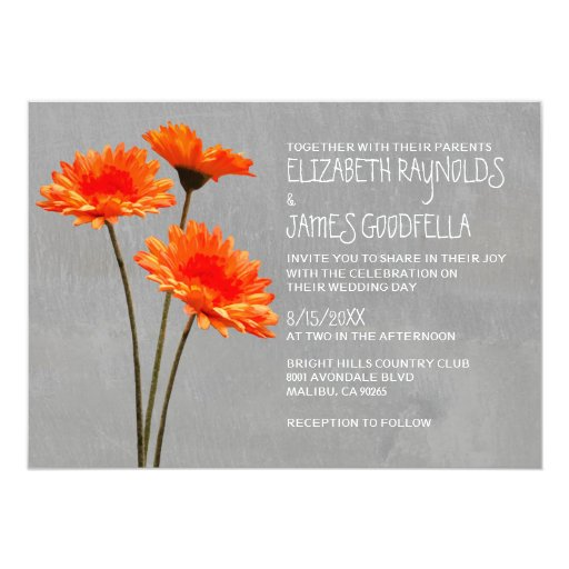 Gerbera Wedding Invitations: Gerbera Daisy Wedding Invitations