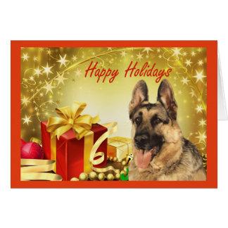 German Shepherd Christmas Cards | Zazzle