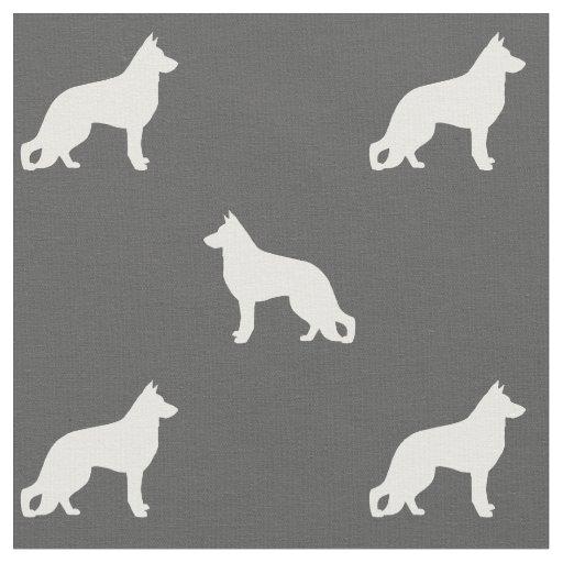 German Shepherd Dog Silhouettes Pattern Fabric Zazzle