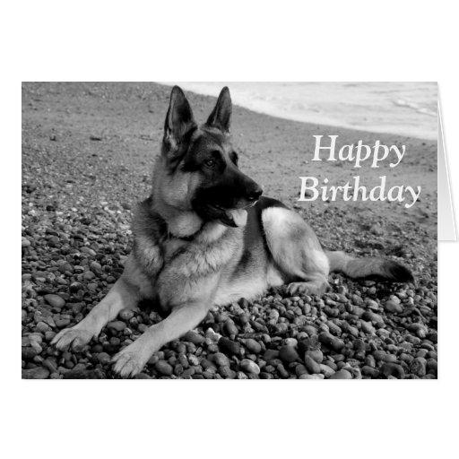 German Shepherd Puppy Dog Happy Birthday Card | Zazzle